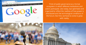 the future of governance and the end of the public/ private divide